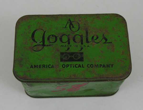 American Optical Goggles Tin