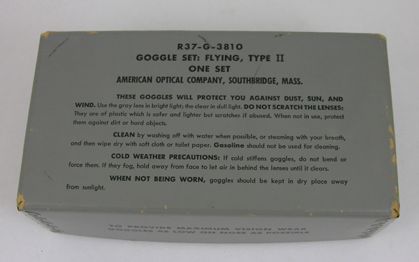 US Navy Type 2 Flying Goggles Box