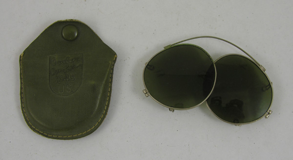 US Army Prescription Glasses Clip On Sunglasses with case