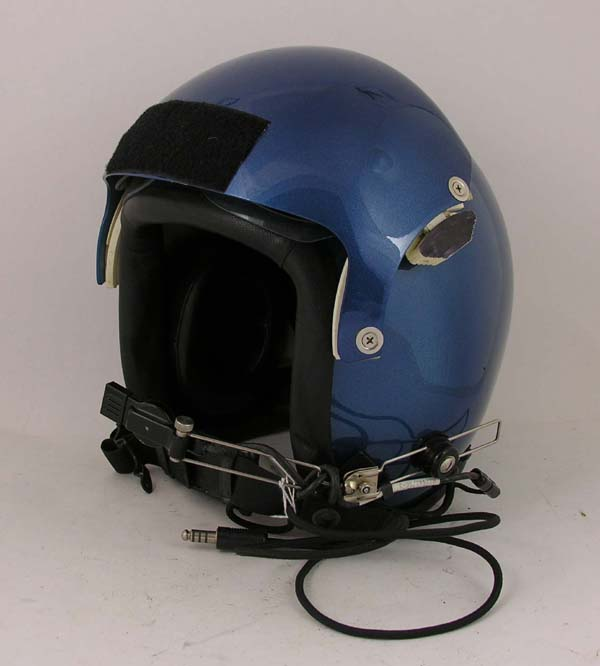 HGU-26/P Flight Helmet with custom leather edgeroll