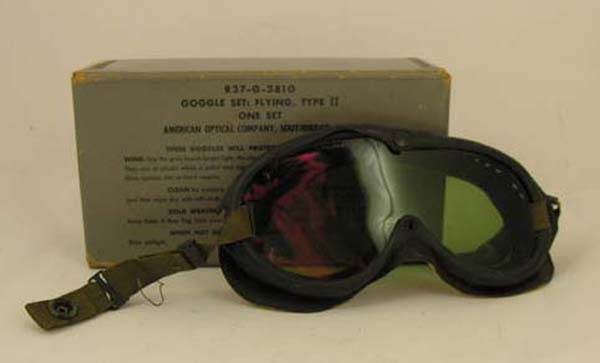 US Navy Type II Flying Goggle Set in box