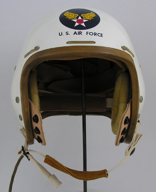 Restored USAF P-Series Jet Pilot Flight Helmet