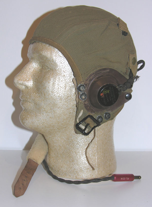 USAAF A-9 Flight Helmet with leather earcups