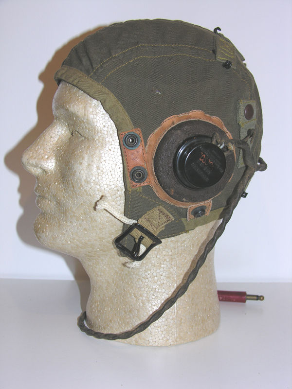 USAAF A-9 Flight Helmet with rigger sponge rubber earcups an