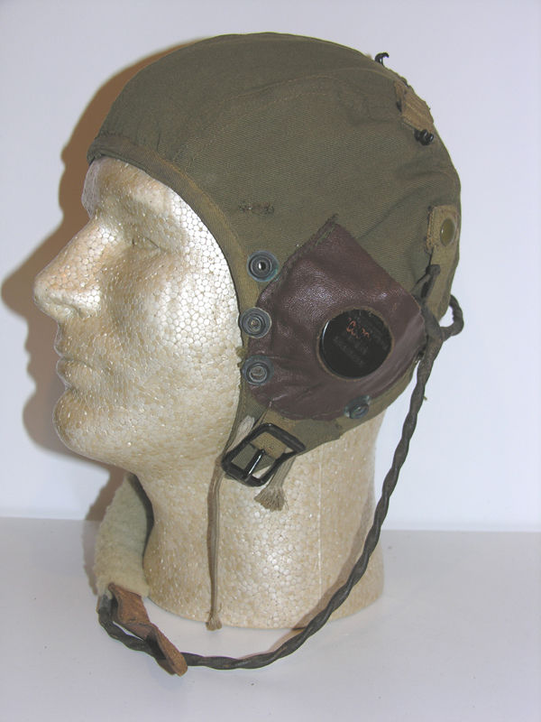 WW2 USAAF A-9 Flight Helmet with rigger earcups