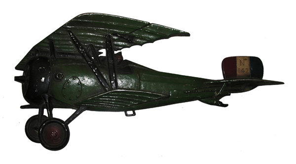 Cast Metal Bi-plane for wall hanging