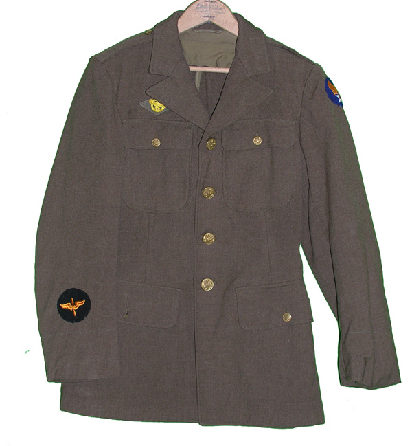 WWII USAAF Enlisted 4 Pocket Dress Tunic with Cadets Insignia