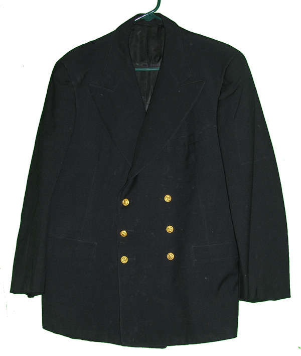 WWII US Navy Blue Dress Tunic w/ bullion insignia