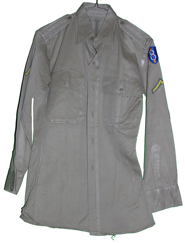 US Army Tan Shirt with insignia