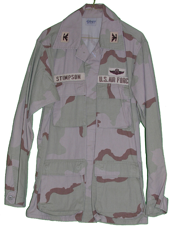 USAF Desert Camo Tunic with insignia