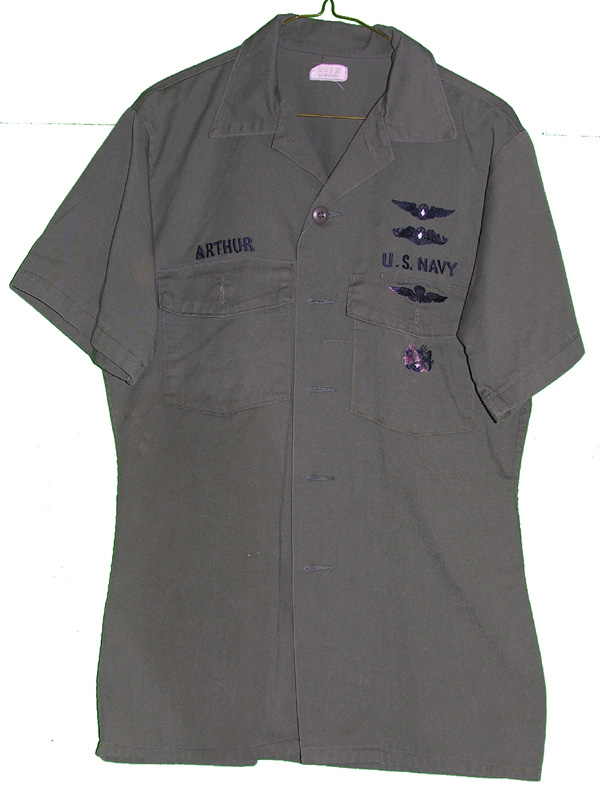 US Navy Aviation Shirt with insignia