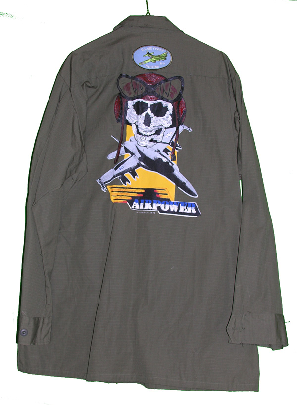 US Army Tunic with painting on rear