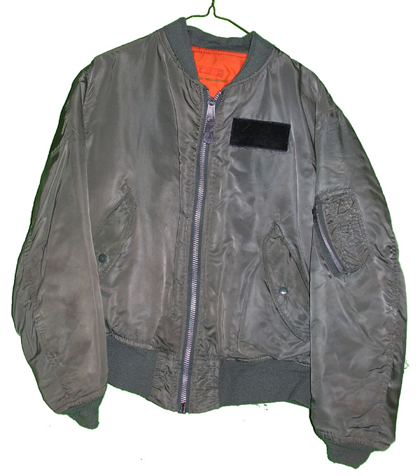 USAF MA-1 Flight Jacket with patches on rear