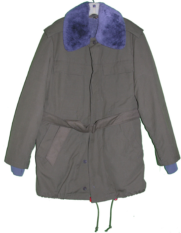 Czech Military Weather Parka with fur collar