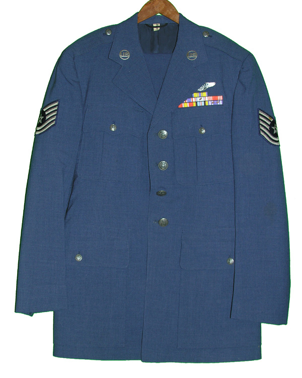 USAF Enlisted Dress Tunic and Trousers with Insignia