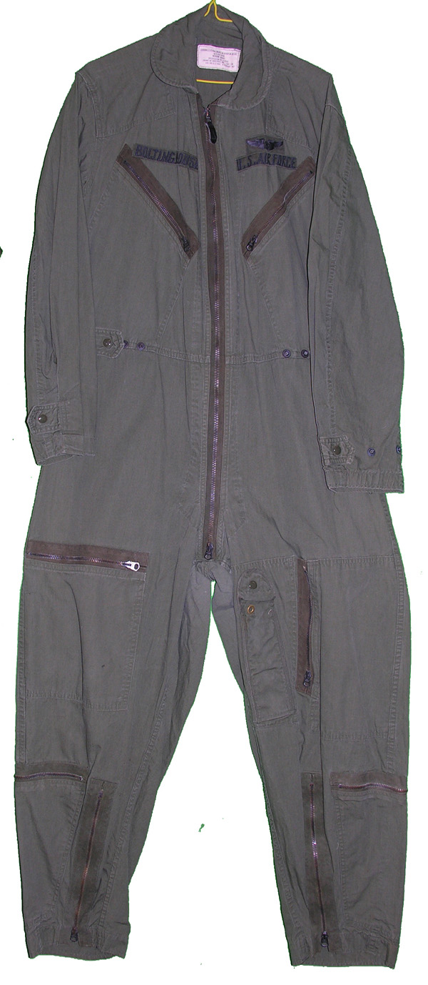 USAF Green Poplin Flight Suit OG107 with insignia