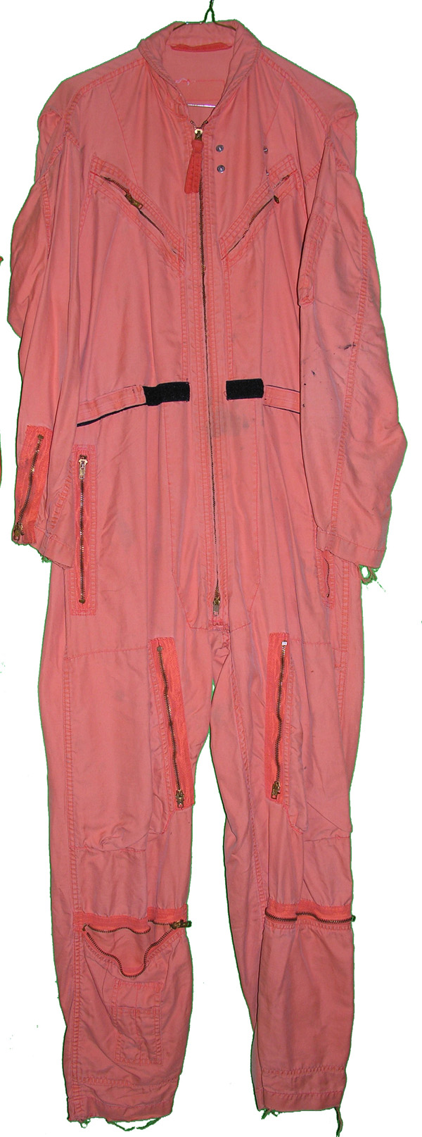 US Navy Indian Orange Flight Suit with rigger pocket