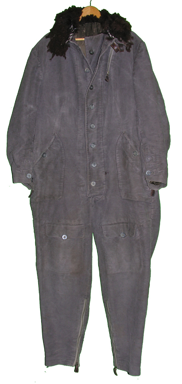 WWII Luftwaffe One Piece Leather Flying Suit