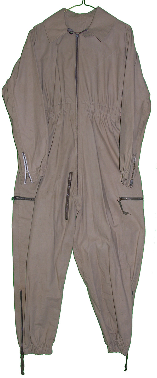 Unknown Tan One Piece Flight Suit