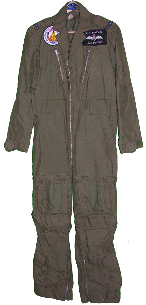 British MK14A Flight Suit with patches from 25(F) Squadron