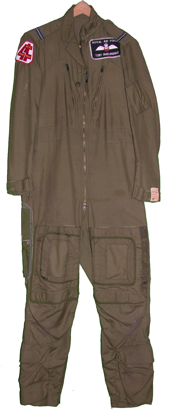 British MK14 Flight Suit with patches from 41(F) Squadron