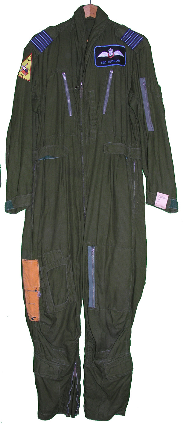 British Flight Suit with patches from 4FTS