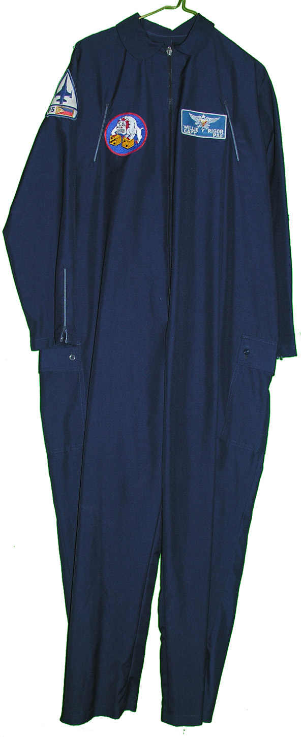 Air Force Blue Party Suit with F-5 Patch and Nametag