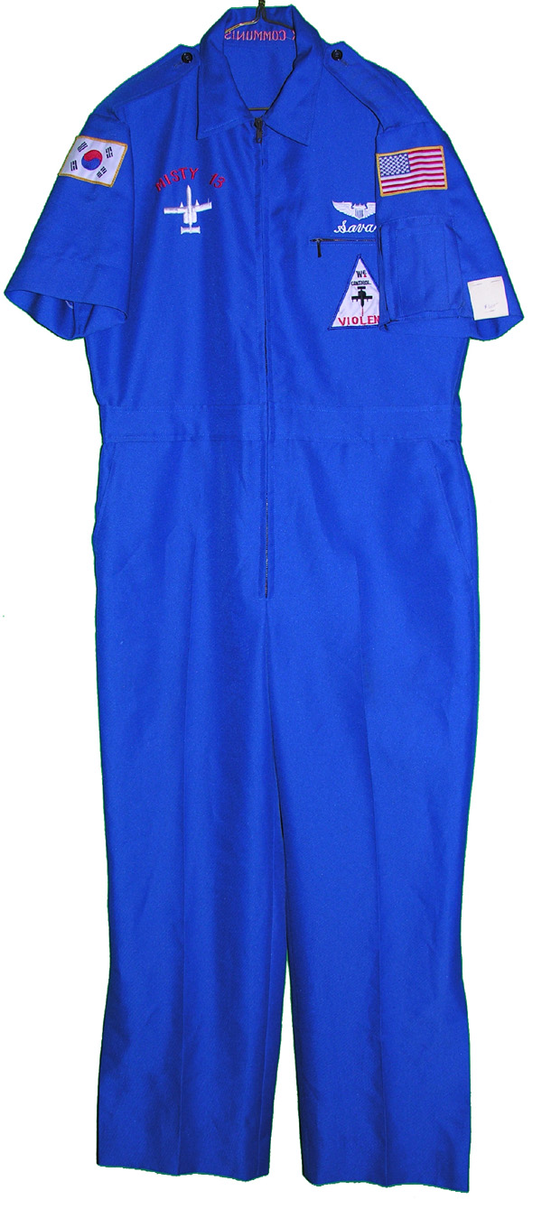 US Air Force A-10 Squadron Blue Party Suit with FXXX Communism under collar