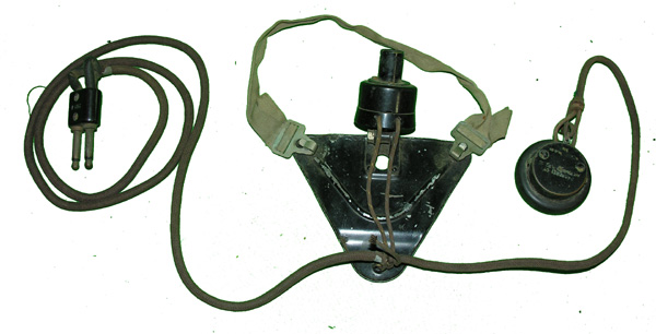 Old Radio Earphone and Microphone Assembly