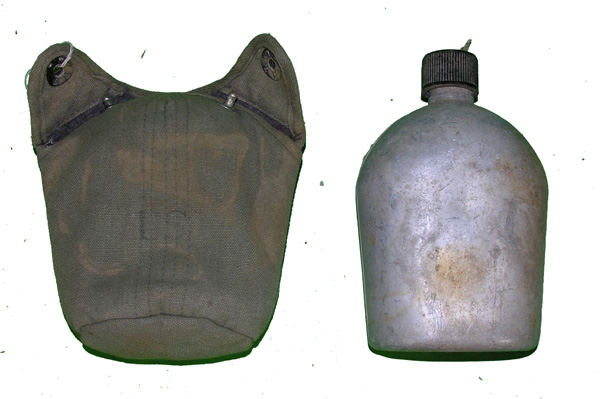 US GI Canteen with Green Case
