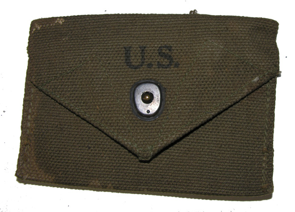 US GI First Aid Web Belt Pouch dated 194?