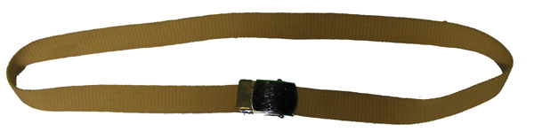 Tan GI Dress Belt with Silver Buckle