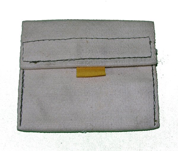 Small White Cloth Bag with yellow tag