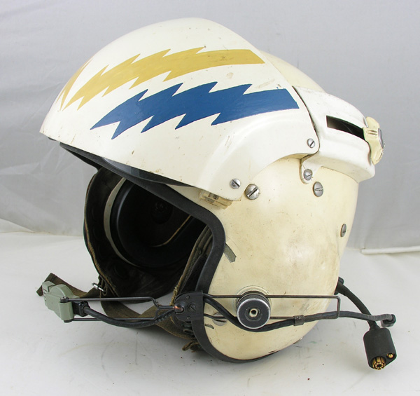 US Navy SPH-3 Dual Visor Helmet with lightning bolts