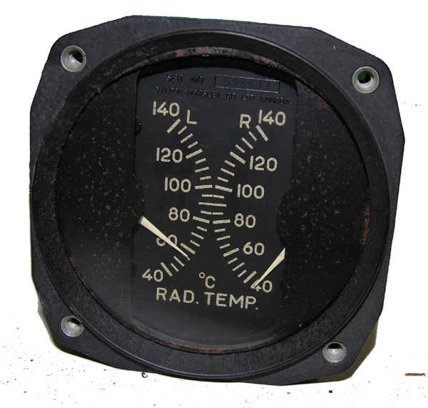 RCAF Aircraft Radiator Temp Guage