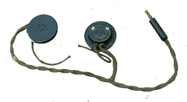 WWII R-14 Earphones for AAF Flight Helmets and Tanker Helmet