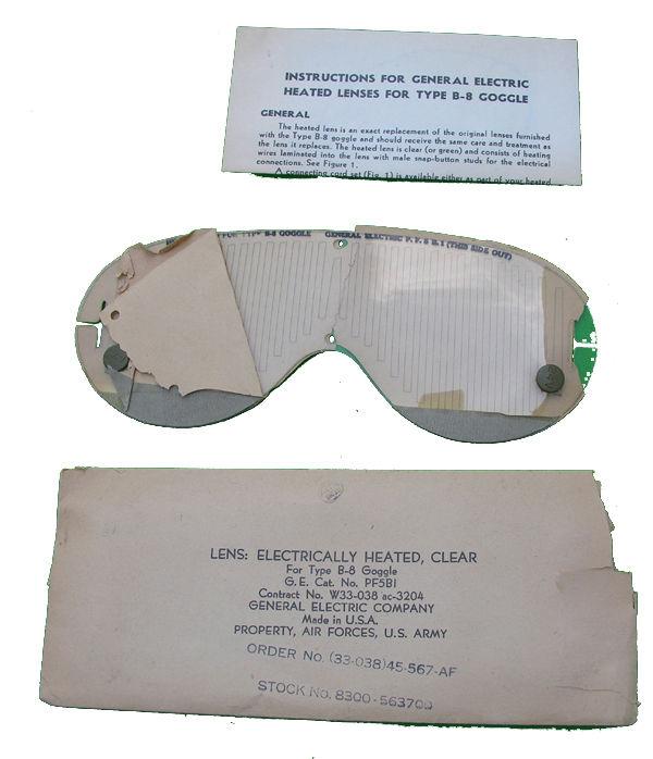 USAAF B-8 Goggles Heated Lense