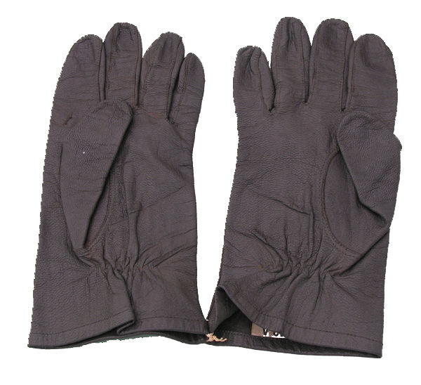 Unkown Gray Leather Gloves