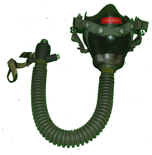 US Navy MS22001 Oxygen Mask with bayonet fittings