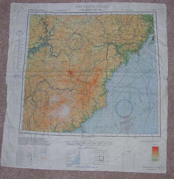 USAAF Survival Silk Map Vladivostok