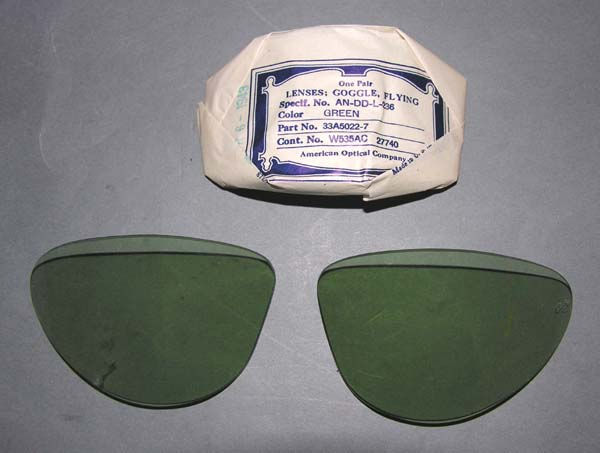 USAAF and USN Green AN-6530 Goggle lenses