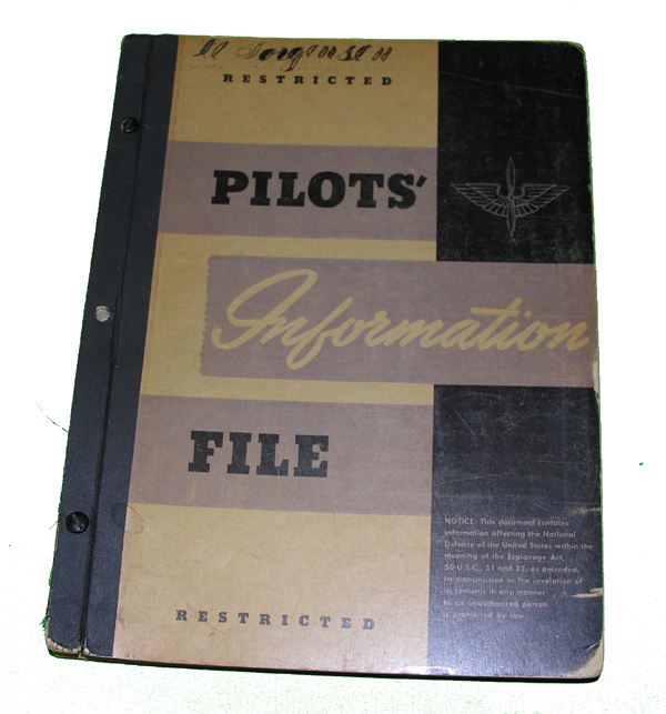 USAAF Pilots Information File Manual