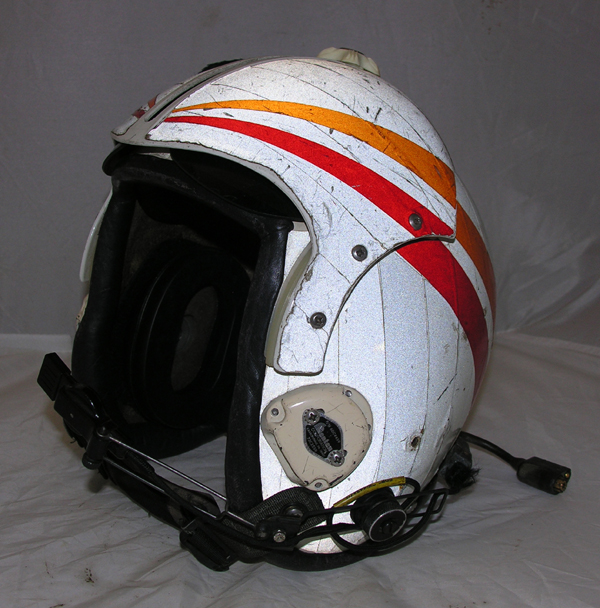 US Navy HGU-33 Flight Helmet with reflective tape
