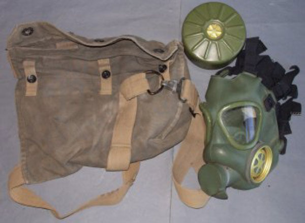 Serbian M1 Gas Mask with filte