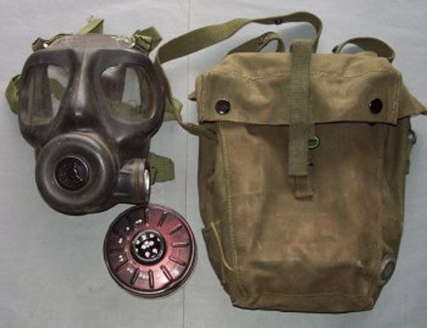 British S6 Gas Mask with filte