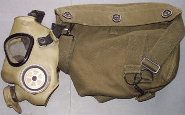 M9A1 Gas Mask and carrier