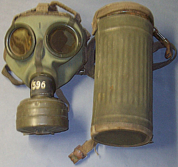 German GM-30 Gas Mask with fil