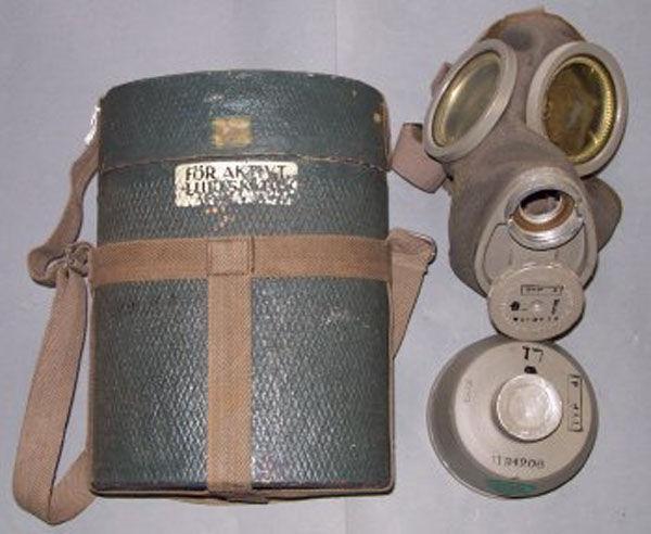 Swedish WW2 Civilian Gas Mask