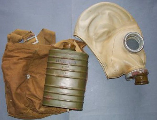 Late WWII SM-1 Gas Mask with f