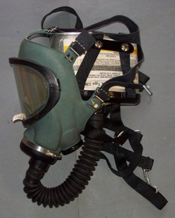 MSA Gas Mask with hose and fil